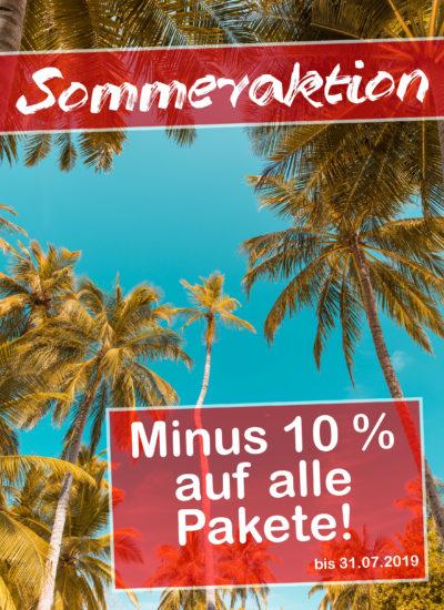 Sommeraktion minus 10 Prozent